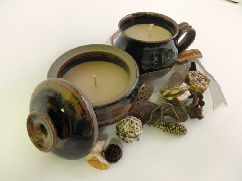 Pottery Black/Brown Mug & Bowl Set