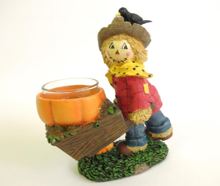 Scarecrow Barrel Tealight Holder